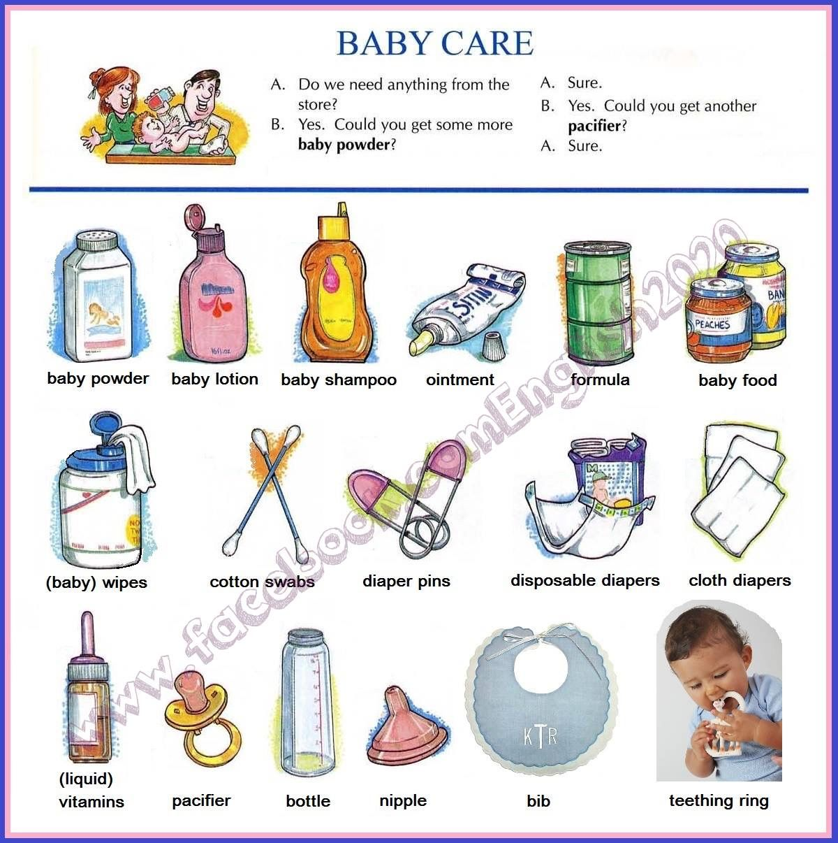 Vocabulary Baby Care