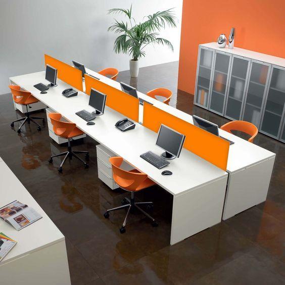 Oficina Escritorios M Dulos De Trabajo Madera Acr Lico Vidrio Oficinas Modernas