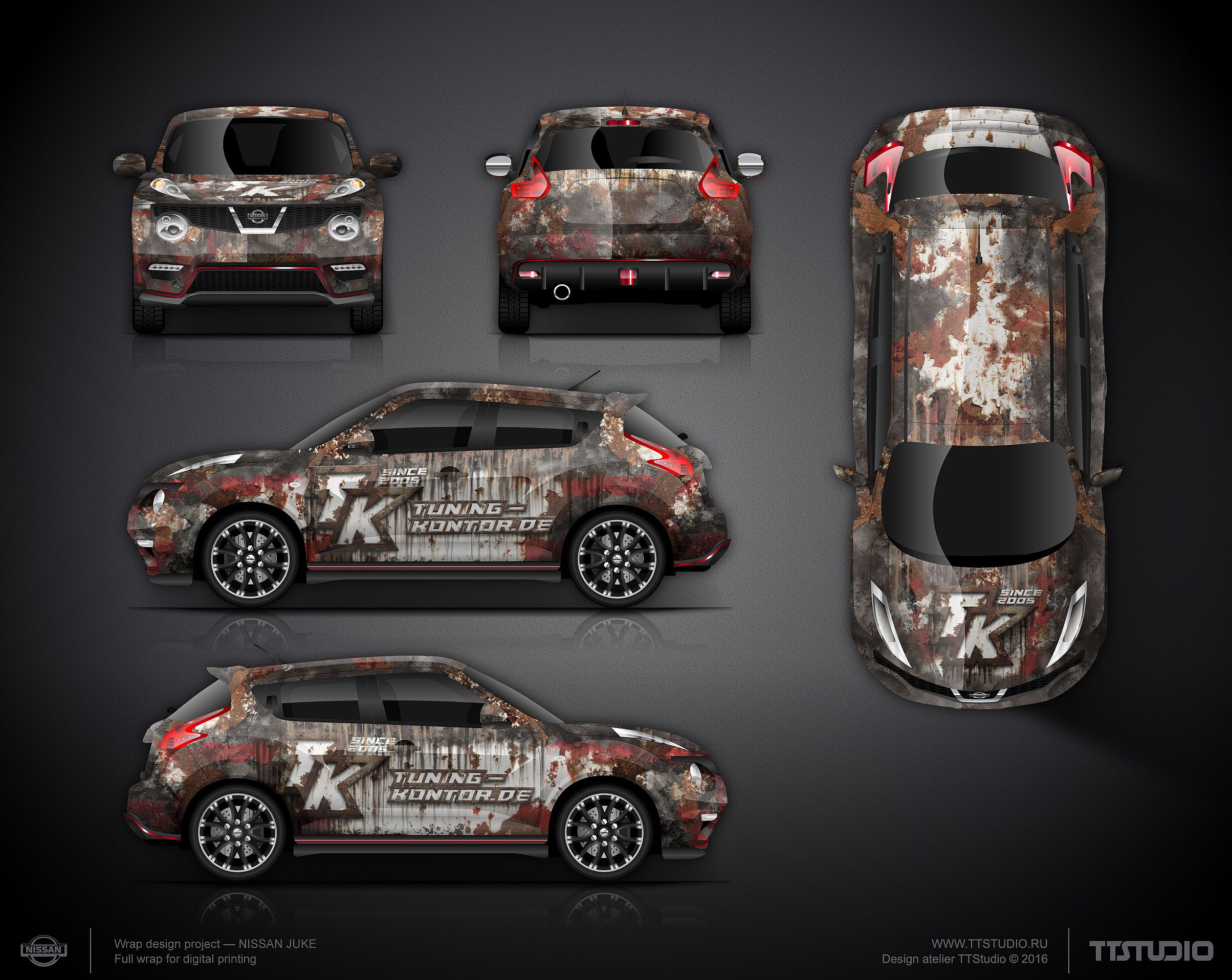 Car decals tribal graphic design zion series - The Approved Logo And Branding Wrap Design For Nissan Juke For Tuning Kontor De