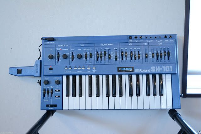 MATRIXSYNTH: Blue Roland SH-101 SN 320616 with Mod Grip
