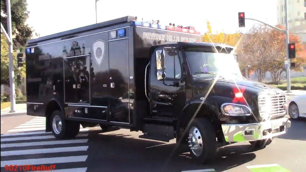 Beverly hills police dept swat truck responding youtube