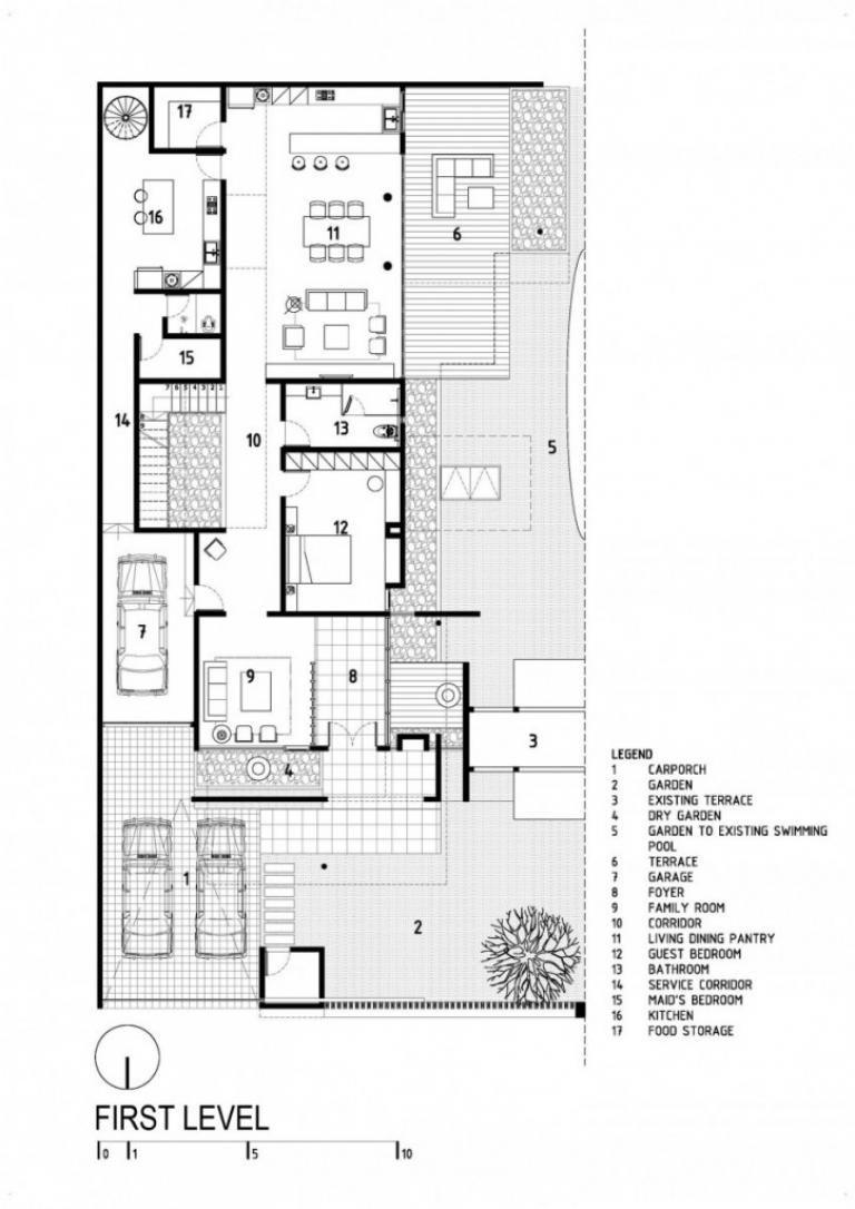 D S House By Dp Hs Architects Denah Rumah Arsitektur Dekorasi Rumah