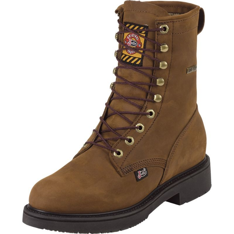 Justin Men S Aged Bark Lace Up Waterproof Work Boots Boots Justin Work Boots Justin Boots