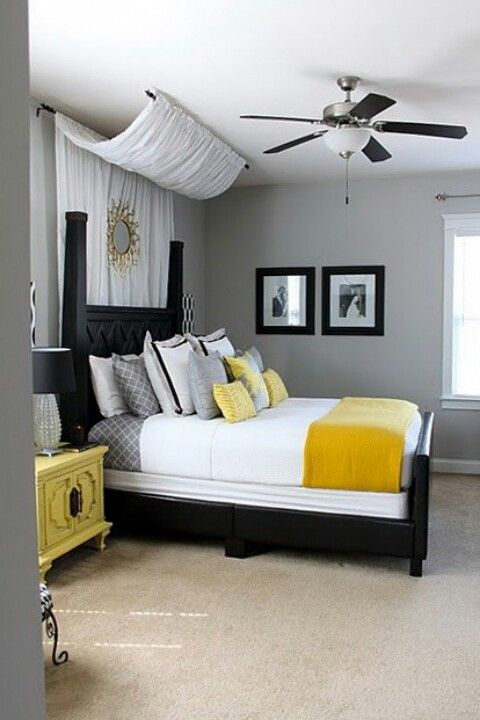 Black White And Yellow Bedroom Ideas 3 New Ideas