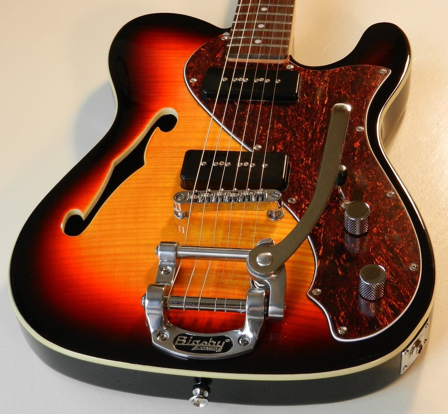 Telecaster with a Bigsby B-5o and P-90's