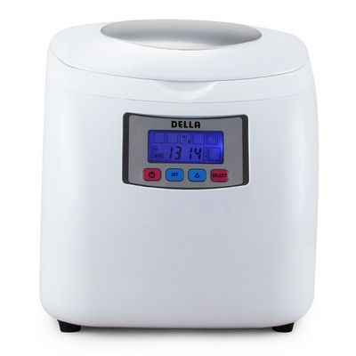 """Della Portable 11.25"""" W 26lb. Freestanding Ice Maker Finish: White"""
