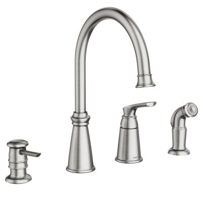 $440 Whitmore Spot resist stainless one-handle high arc ...