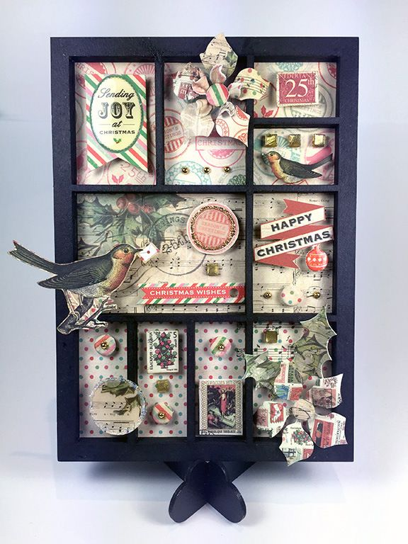 Craftwork Cards Christmas Post mini-print tray by Neil Burley