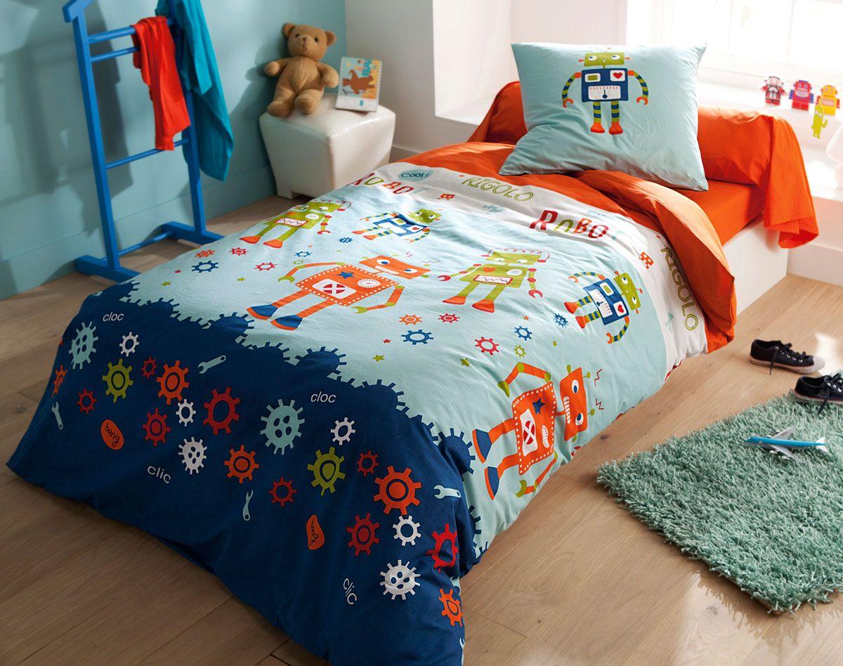 parure de lit robots becquet for children pinterest sons and lights. Black Bedroom Furniture Sets. Home Design Ideas
