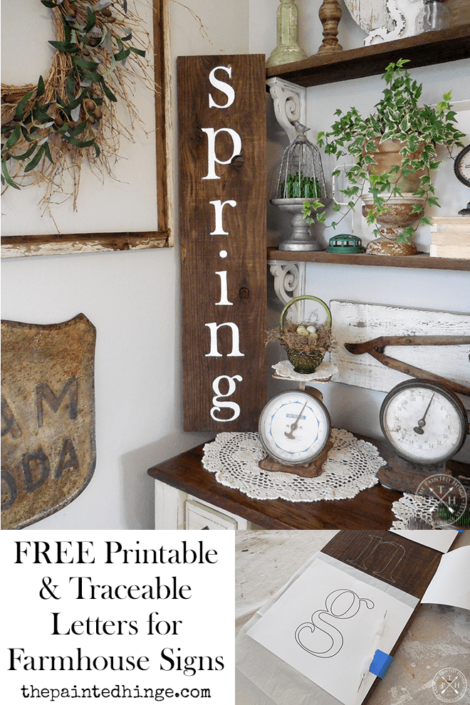 Free Printable Traceable Letters For Making Farmhouse Style Signs Lowercase Letters Farmhouse Style Sign Painted Wood Signs Lowercase A