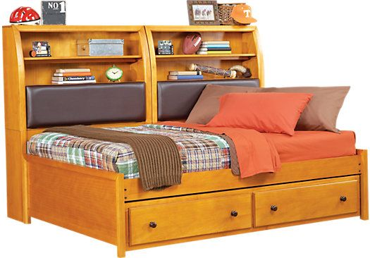 Shop for a santa cruz pine full bookcase daybed at rooms for Rooms to go kids outlet