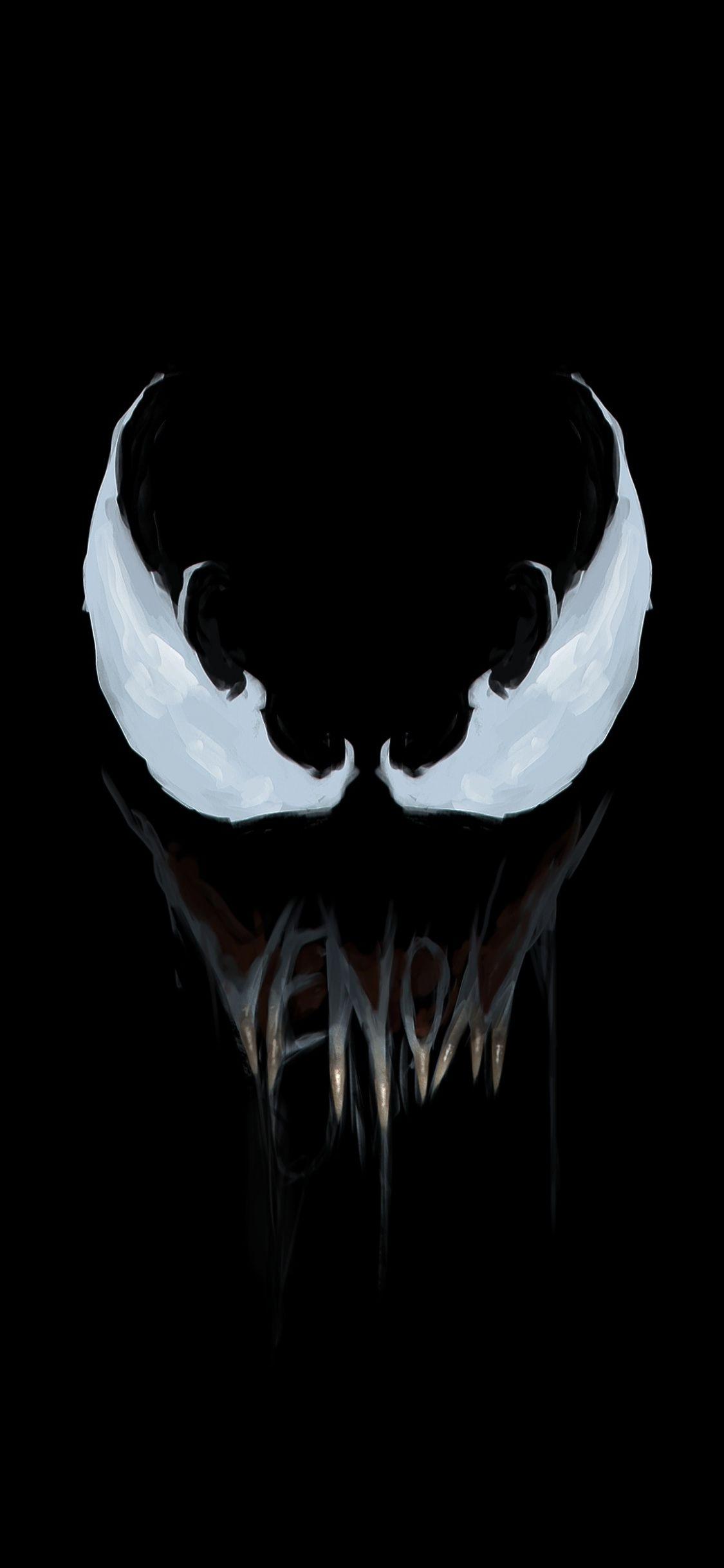 Minimal Venom Super Villain Art 1125x2436 Wallpaper Comics Y Dibujos Animados Fondo De Pantalla Para Telefonos Iphone Fondos De Pantalla