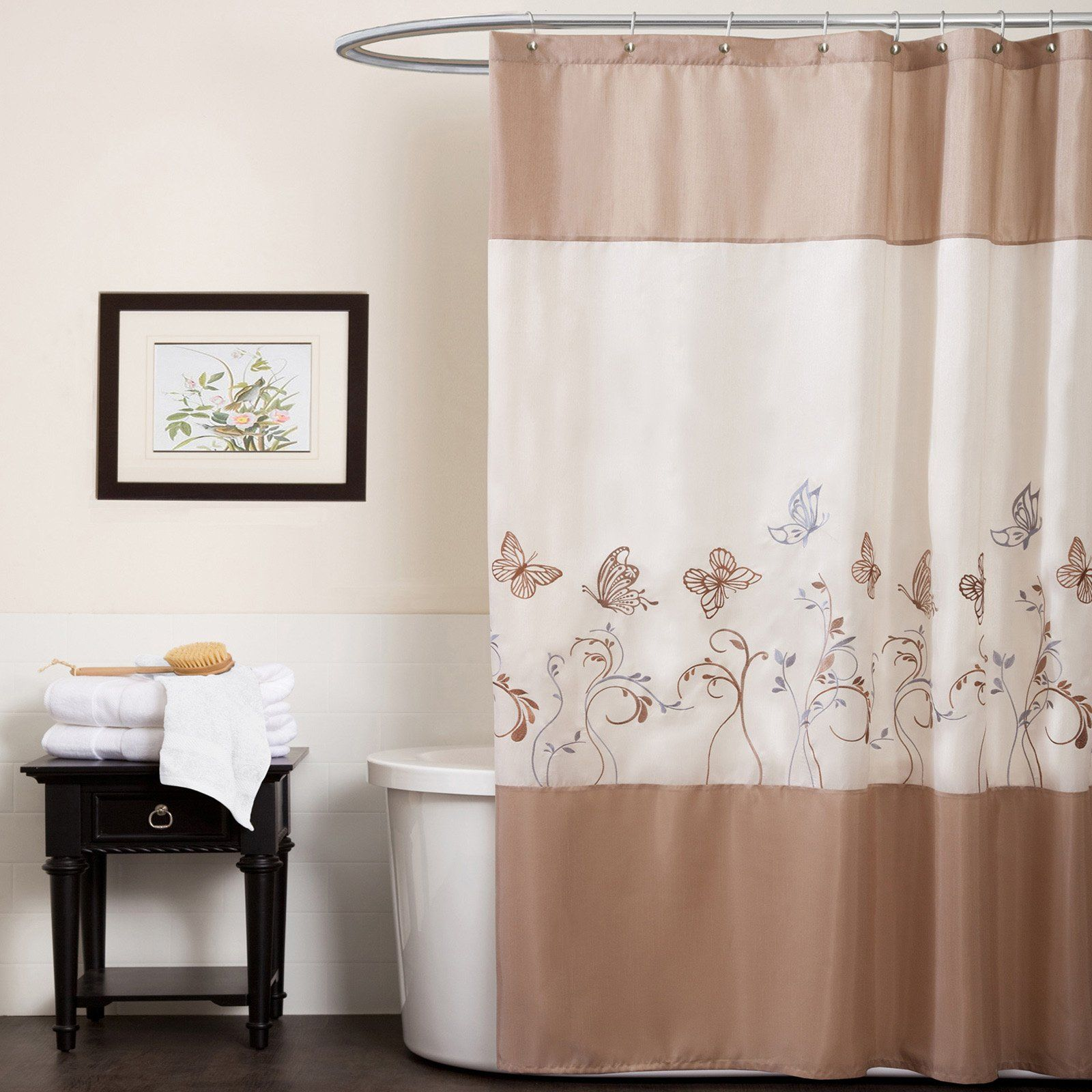 Have To Have It Triangle Home Fashions Butterfly Dreams Beige
