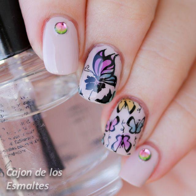 decoracin de uas con mariposas colaboracin con bornpretty store httpwww - Decoraciones De Unas