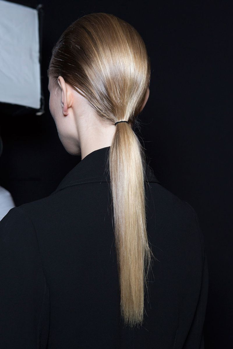 ponytail styles azrouel ss 2016 The Coolest (and Easiest) Ponytail Styles to Steal from Spring Runways