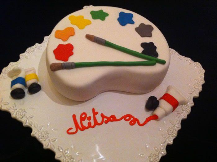le gteau palette dessin quand lart se mange pinterest cake designs and cake - Dessin Sur Gateau