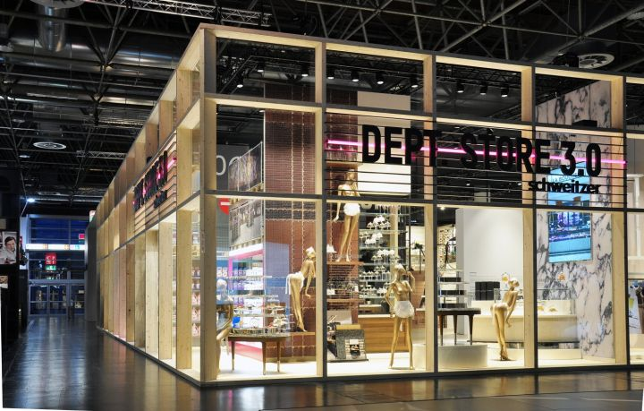 euroshop d sseldorf 2014 schweitzer department store 3 0 retail design blog space pinterest. Black Bedroom Furniture Sets. Home Design Ideas