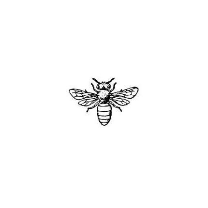Honey Bee UNMOUNTED bug rubber stamp, summer, bug, bullet journal, planner, mail art, Sweet Grass Stamps #9 #rubberstamping