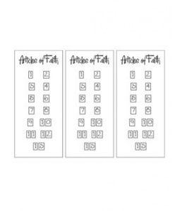 Articles of Faith Cards