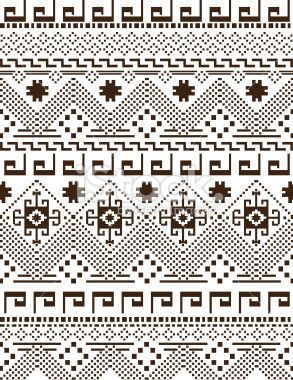 peruvian blanket Royalty Free Stock Vector Art Illustration