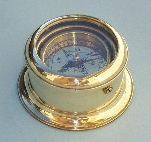 Brass Desk Compass 56 May Be Custom Engraved With Images