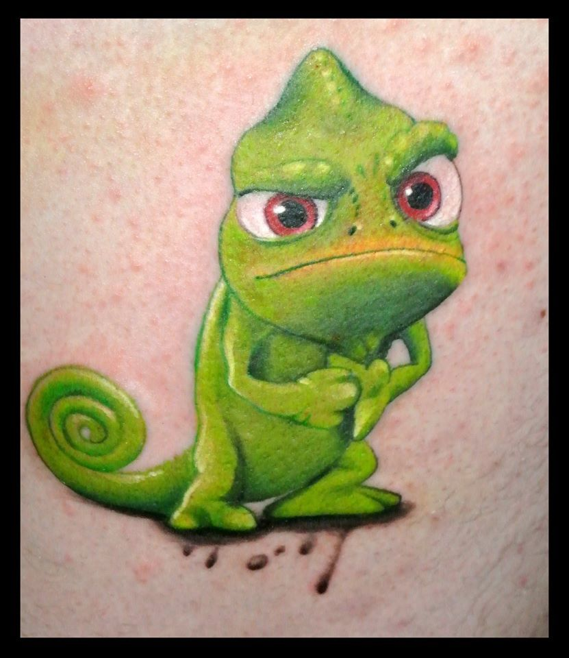 angry #chameleon #greenchameleon #tattoo #colortattoo | nature ...