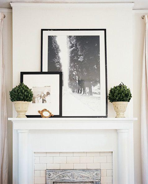The Mantel White Mantel Decor Fireplace Design