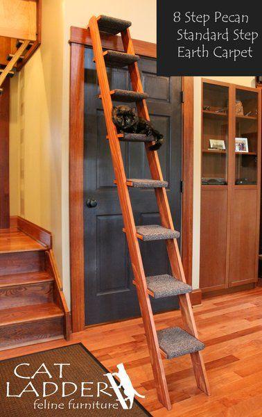 Good Hand Crafted 8 Step Cat Ladder | Cat Ladder Feline Furniture