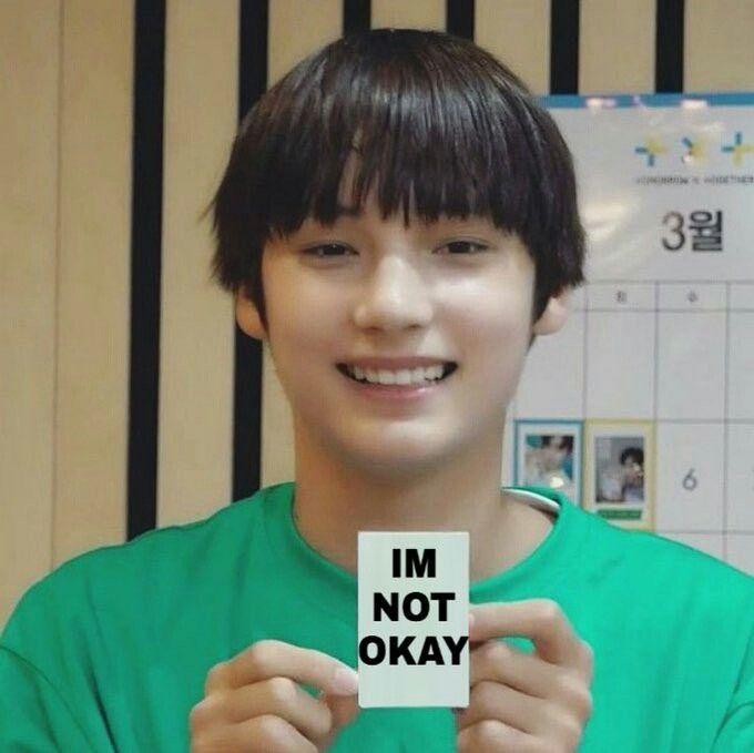 Pin by 𝐛𝐚𝐤𝐮𝐜𝐚𝐟𝐞 on memes - TXT | Kpop memes, Meme faces, Txt