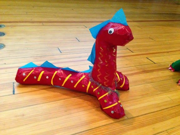 paper mache Dragon from Where the Mountain Meets the Moon!