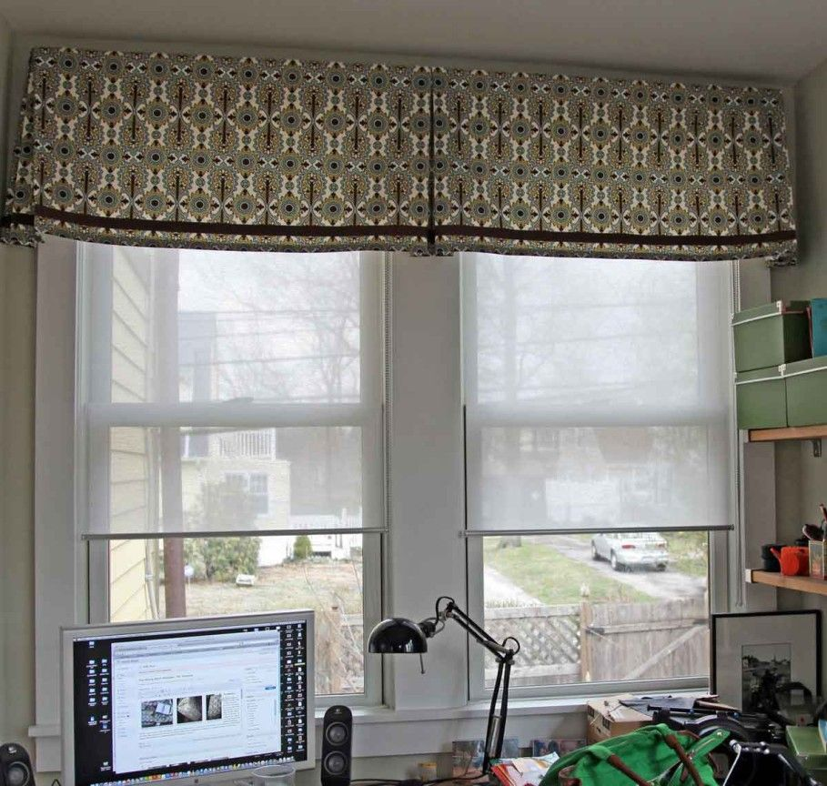 Decoration, Inspiring Valances For Living Room For Two Small Windows