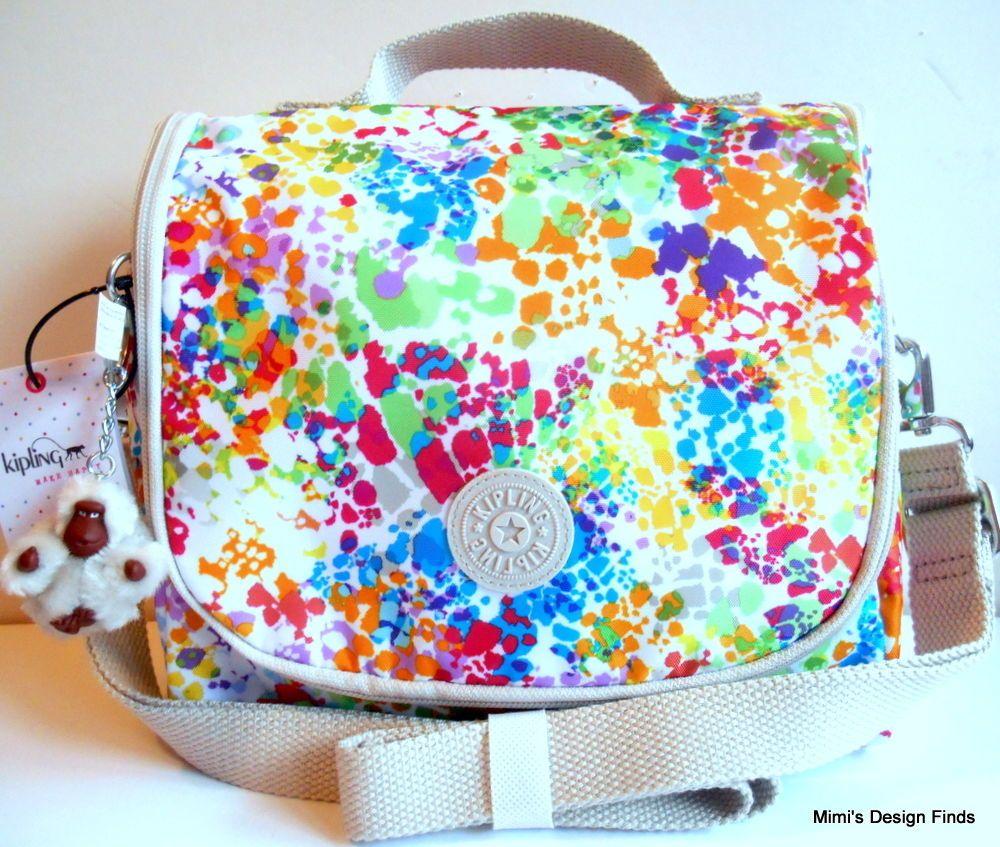 937bf0ce2 Bolsas Aislantes Para Comida. Aislante · Mono · KIPLING Kichirou Lunch Bag  NEW Insulated Crossbody Color Burst Neon Monkey NWT #Kipling  #MessengerCrossBody