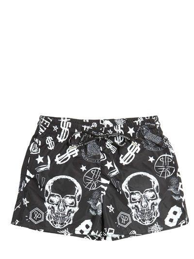 0f7fb357bf Skull & $$ Printed Nylon Swimming Shorts | Kids Swimwear | Kids ...