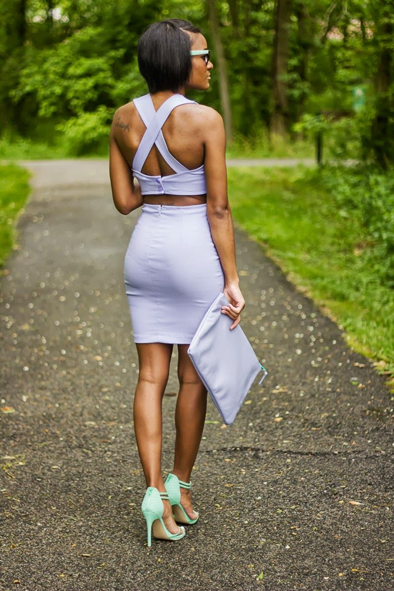 Solid lilac and the Love,Cortnie 'Lilac' leather clutch.  via The Daileigh: Lavender-n-Mint