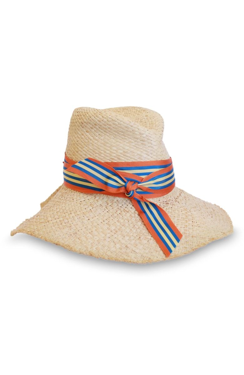 322d274f82a First Aid Striped Band Straw Hat