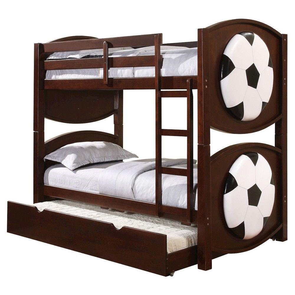 Best All Star Kids Soccer Bunk Bed Espresso Twin Twin Acme 640 x 480