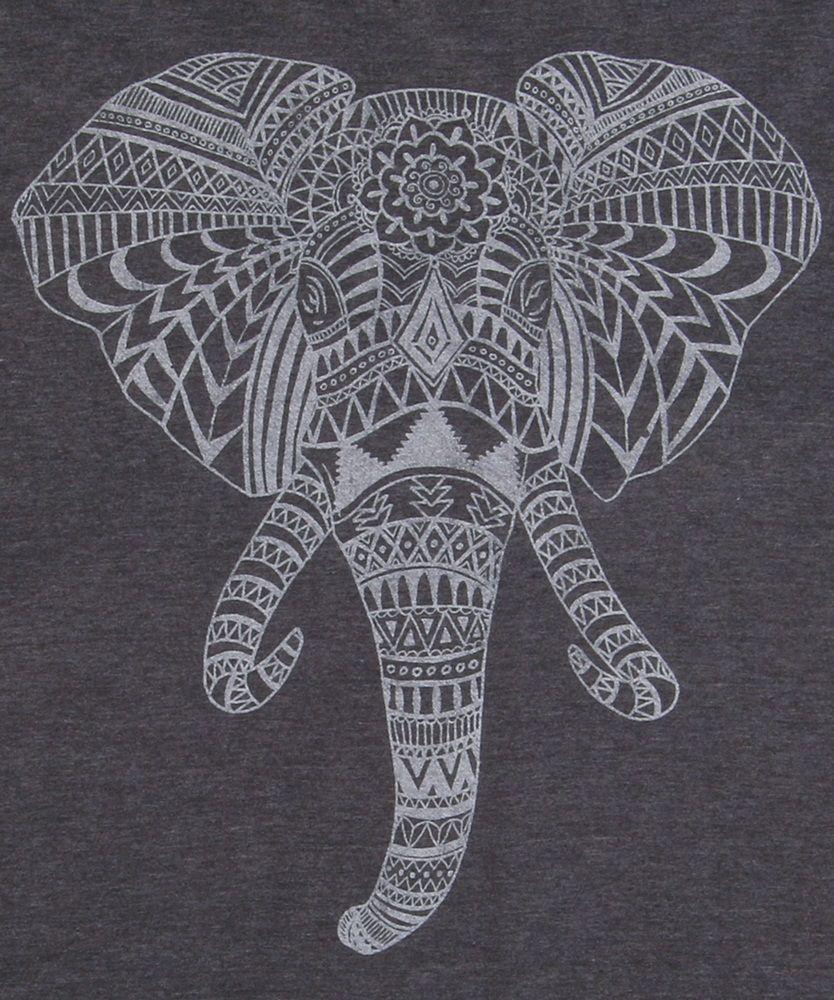 Elephant Aztec Head T Shirt Elephant Head Tattoo Elephant Head Drawing Elephant Drawing