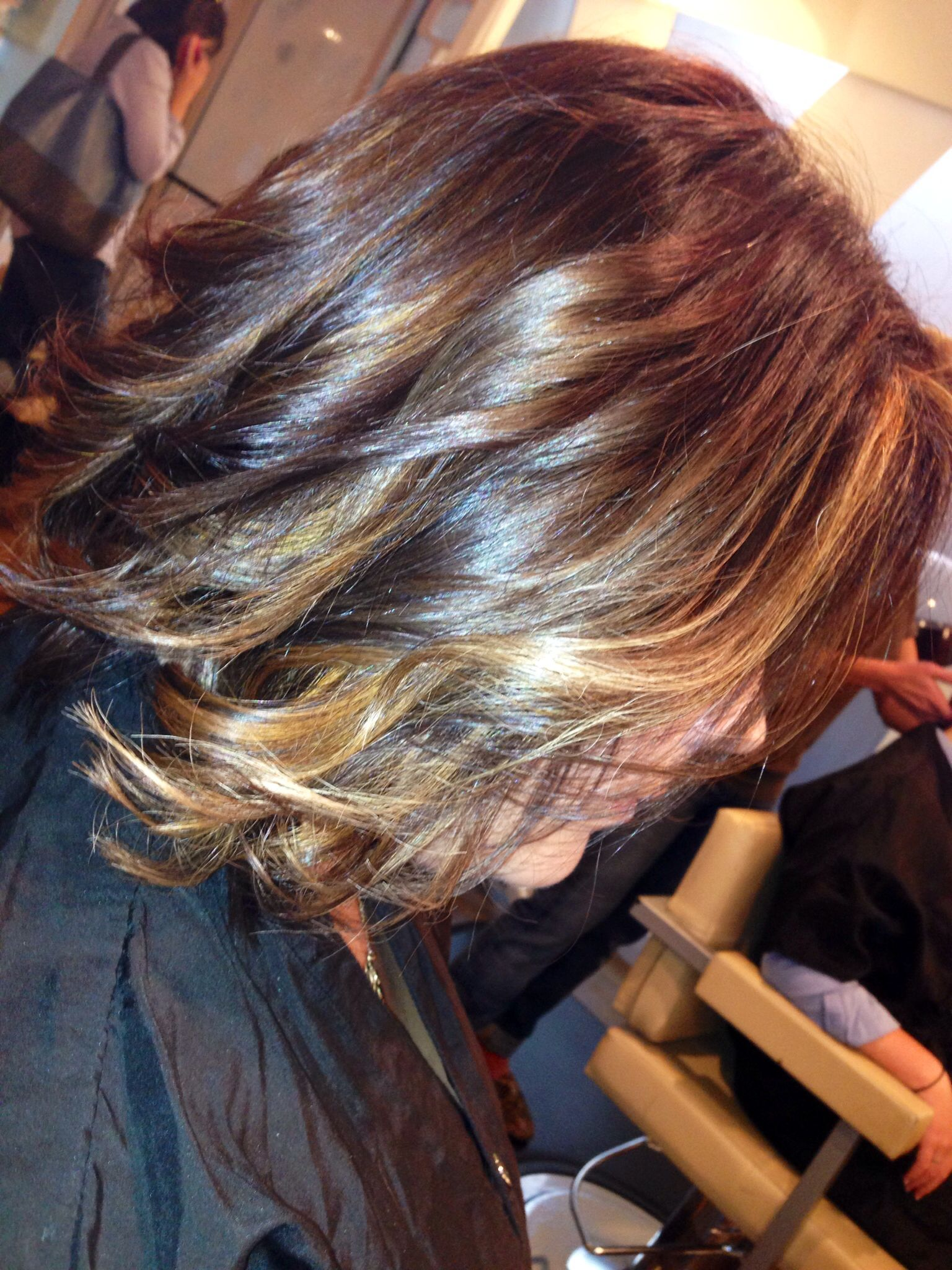 Ombre hair color by stacey rippy shorthair ombre wavyhair hair