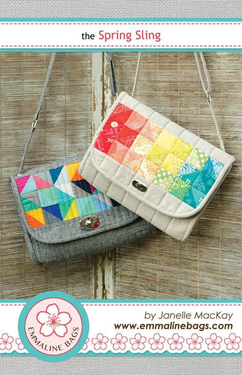 The Spring Sling PDF Sewing Pattern: Sew a quilted cross-body bag ...