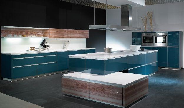 Türkise Küche alno küche mit kochinsel in türkis blau architektur und garten