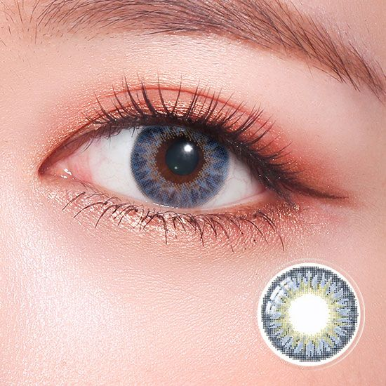Geo Tricolor Blue Contact Lenses Colored Free Contact Lenses Tri Color