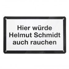 Blechschild Helmut Schmidt Zimmlich Lutzig Humor