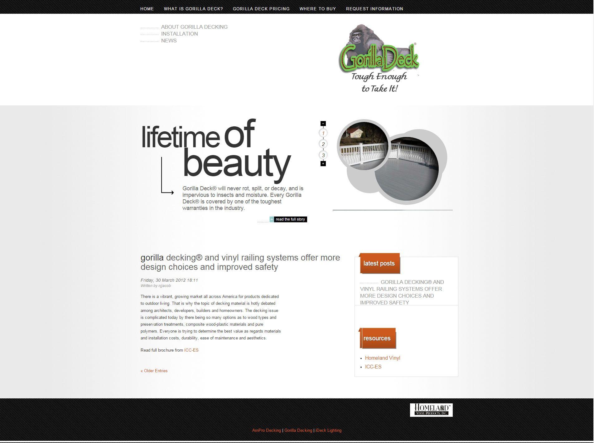 Vinyl Gorilla Nj Web Design Web Design Post Design Vinyl Railing