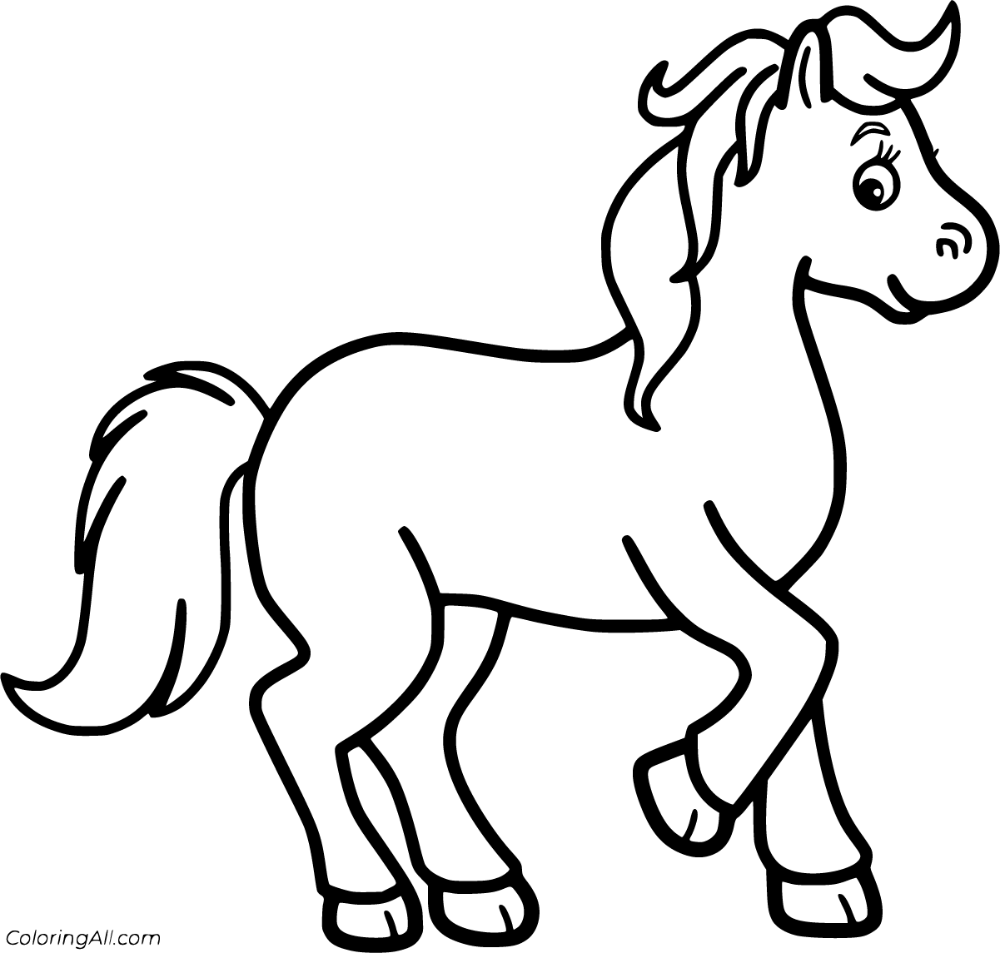 65 Free Printable Horse Coloring Pages In Vector Format Easy To Print From Any Device And Automatically Fit Horse Coloring Pages Horse Coloring Horse Cartoon [ 953 x 1000 Pixel ]