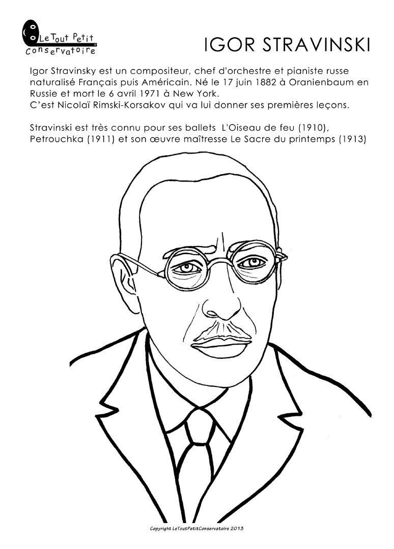 Coloriage de Stravinsky