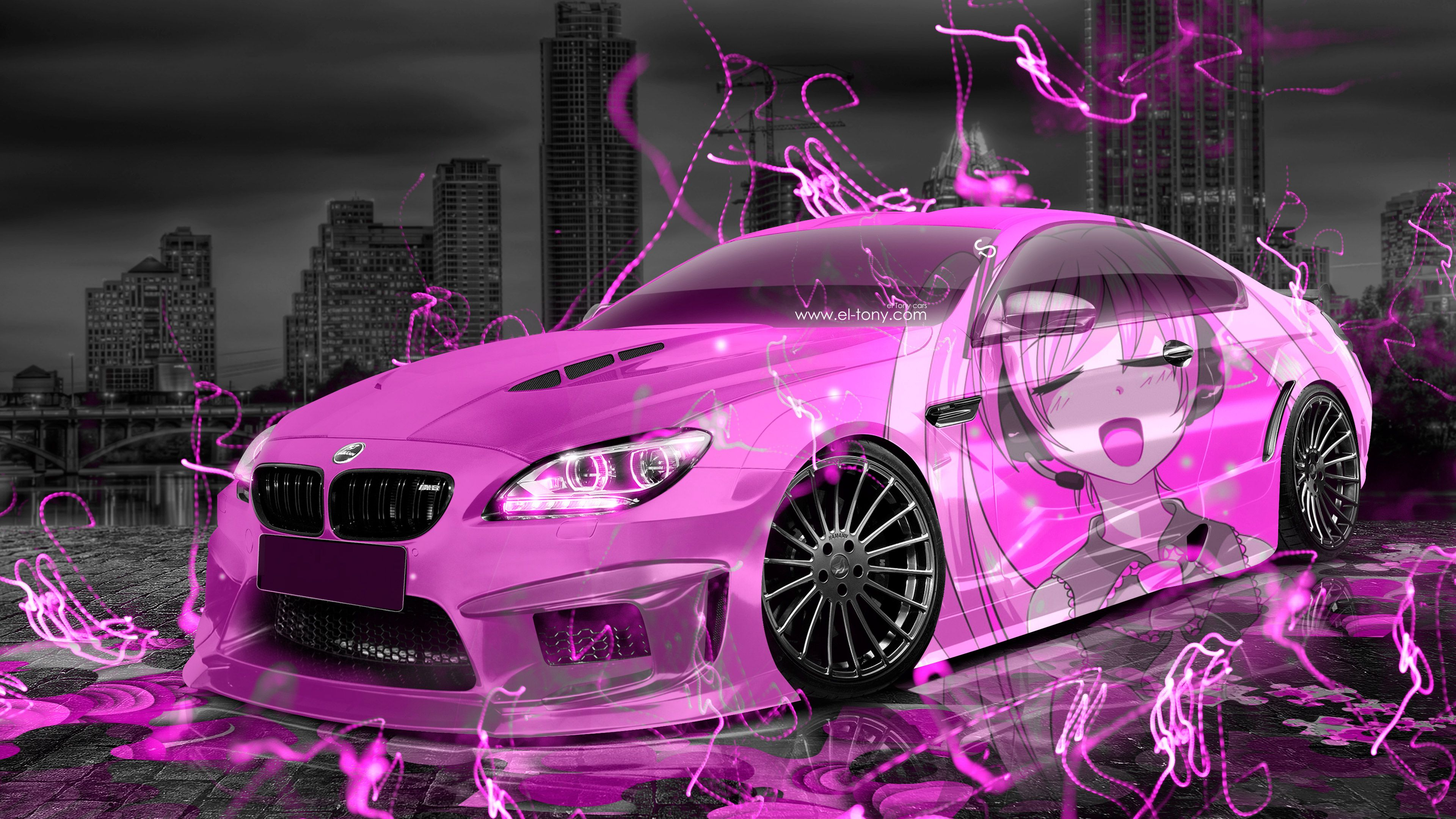 Genial BMW M6 Hamann Tuning 3D Anime Girl Music