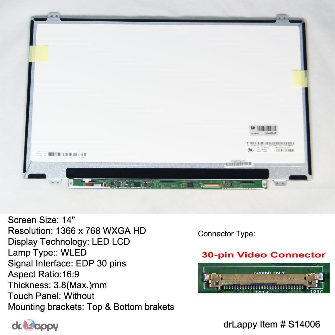 14 WXGA HD 1366x768 EDP LED LCD Screen For Acer Aspire E5