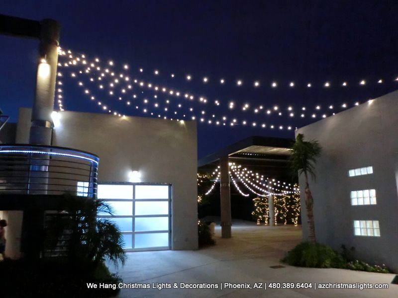 party lighting installation job done in phoenix arizona stream