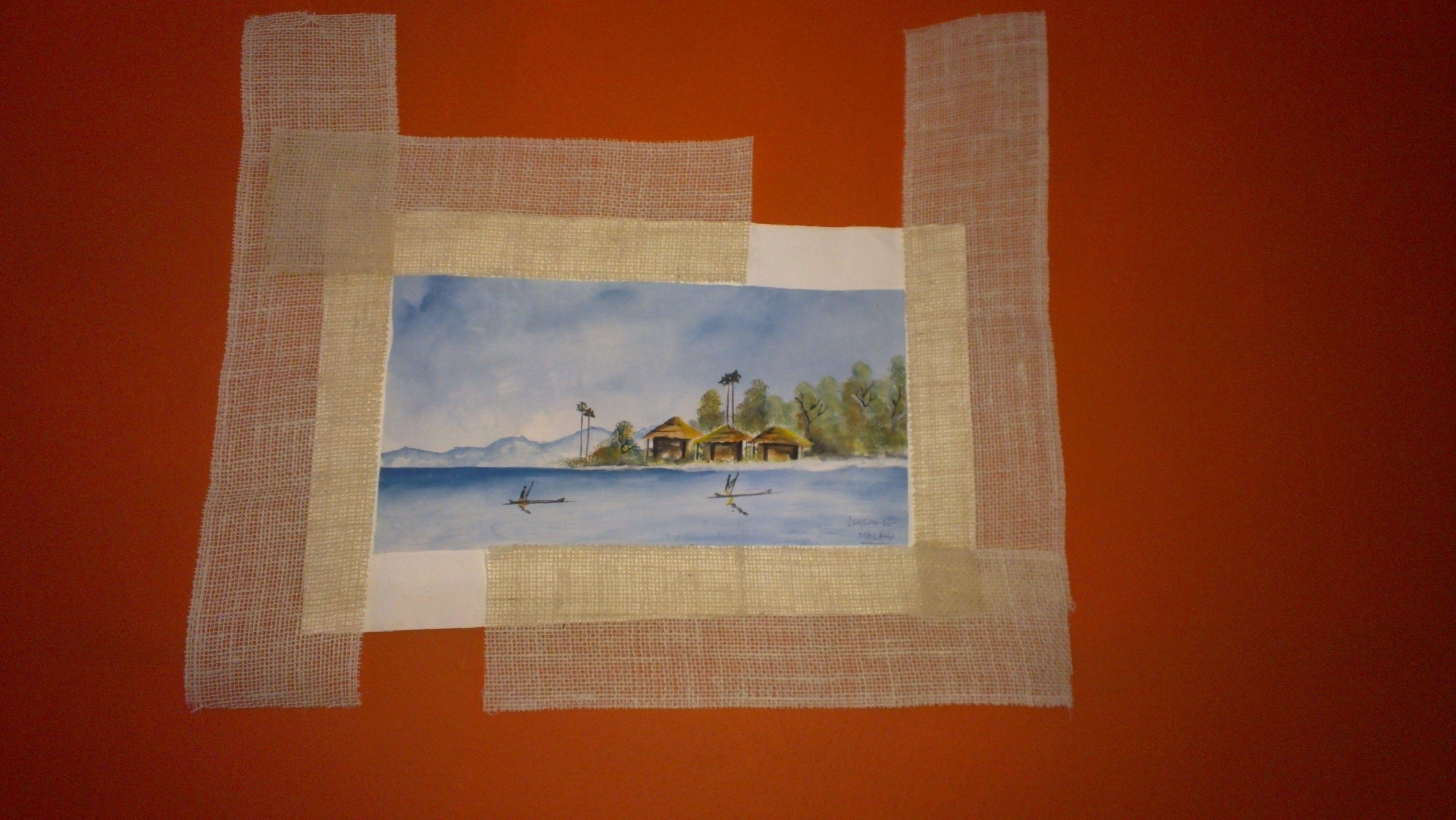 Los cuadros también pueden enmarcarse con otros materiales que una ...