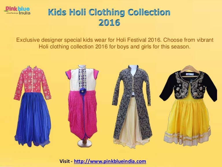 f27ba2fc6 Special Kids Clothing Collection 2016 for Holi Festival - Designer Baby  Dresses, Kids Traditional Indian Outfits, Children Clothing India